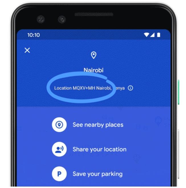 Plus Code on Google Maps